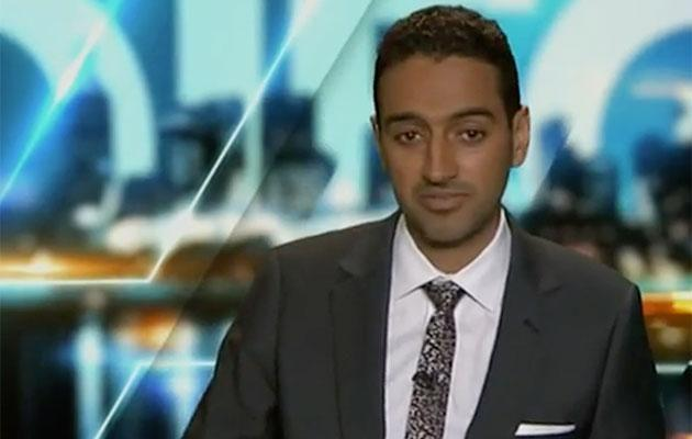 ...While the interviewee looked a little shifty! Source: Channel Ten