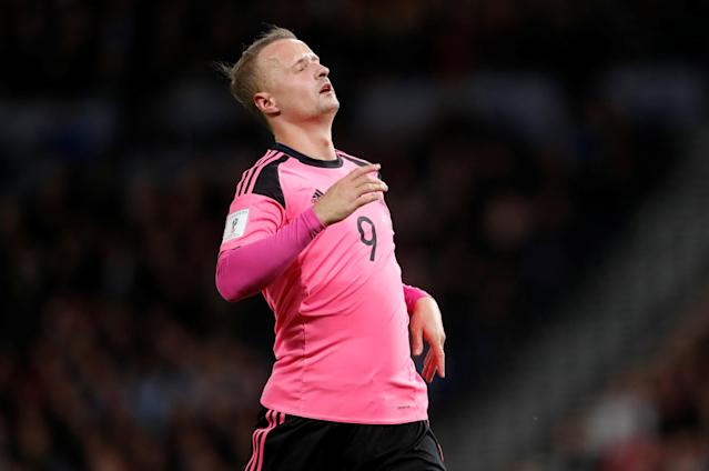 Soccer Football - 2018 World Cup Qualifications - Europe - Scotland vs Slovakia - Hampden Park, Glasgow, Britain - October 5, 2017 Scotland's Leigh Griffiths reacts REUTERS/Russell Cheyne