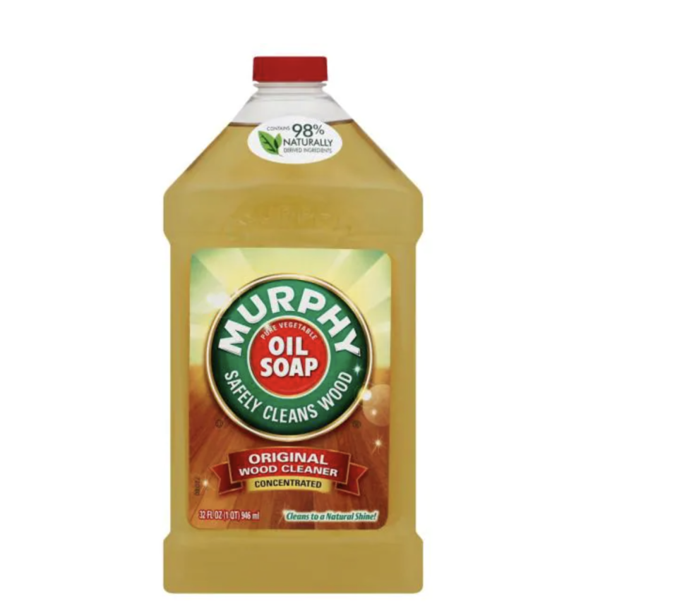 """<p><strong>Murphy Oil Soap</strong></p><p>homedepot.com</p><p><strong>$4.00</strong></p><p><a href=""""https://go.redirectingat.com?id=74968X1596630&url=https%3A%2F%2Fwww.homedepot.com%2Fp%2FMurphy-Oil-Soap-32-oz-Orange-Soap-Wood-Cleaner-01163%2F302475084&sref=https%3A%2F%2Fwww.housebeautiful.com%2Flifestyle%2Fcleaning-tips%2Fg36384511%2Fbest-hardwood-floor-cleaners%2F"""" rel=""""nofollow noopener"""" target=""""_blank"""" data-ylk=""""slk:BUY NOW"""" class=""""link rapid-noclick-resp"""">BUY NOW</a></p><p>Steinemann says to """"avoid using harsh detergents that will dull the surface of your floors. You shouldn't use products like vinyl floor cleaner or tile cleaner on hardwood floors."""" Instead, use something tried and true like Murphy's wood cleaner. It's been used for over 100 years as a wood cleaner, including on hardwood floors, and is absent of ammonia or bleach contains. 98 percent of the ingredients are naturally derived, including water, coconut, and others for a biodegradable formula. You can also use the oil soap on surfaces like linoleum and ceramic as well.</p>"""