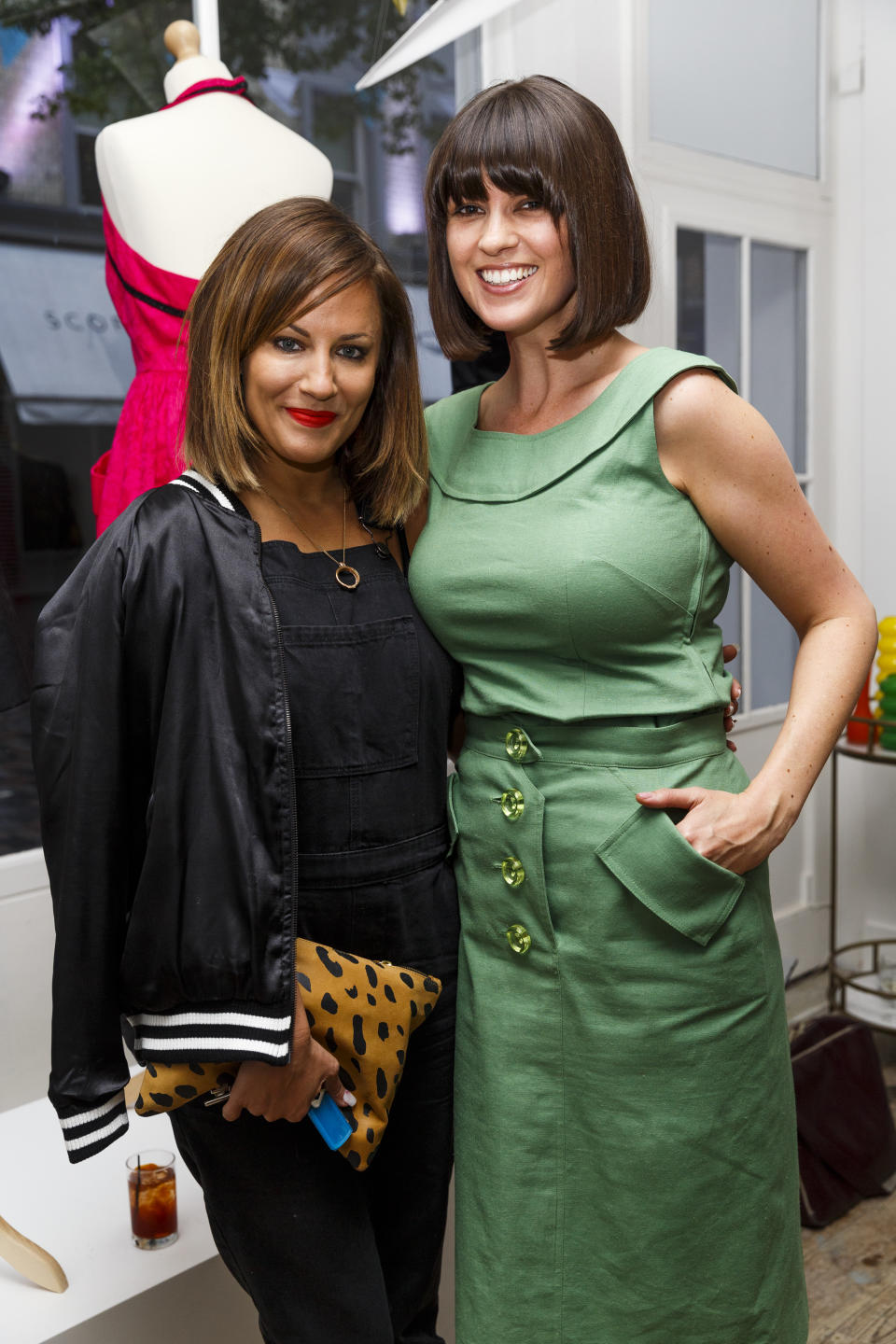 LONDON, ENGLAND - MAY 06:  Caroline Flack and Dawn O'Porter attend the launch of Dawn O'Porter's BOB pop up boutique at Seven Dials, with Caorunn Gin and anCnoc vinatage Whisky, Vidal Sassoon and  Smashbox on May 6, 2015 in London, England.  (Photo by Tristan Fewings/Getty Images for BOB By Dawn O'Porter)