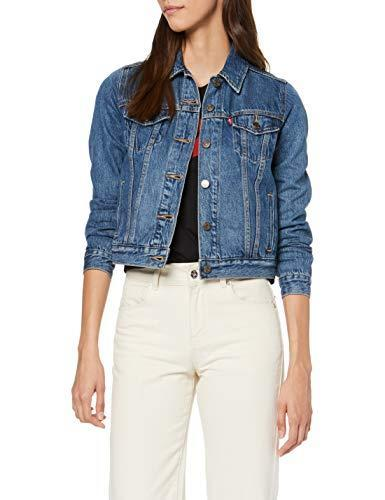 Levi's Original Trucker Giacca in Jeans, Soft As Butter Dark, S Donna