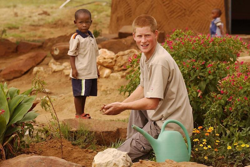 Prince Harry befriended young orphan Mutsu Potsane 14 years ago on a gap year stay in Losotho: PA Archive/PA Images