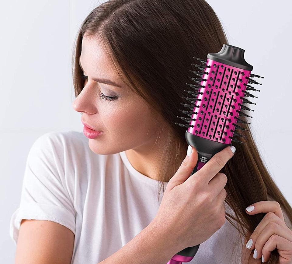 Dry and style your hair at once! (Photo: Amazon)