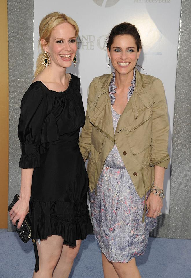 """<a href=""""http://movies.yahoo.com/movie/contributor/1800355843"""">Sarah Paulson</a> and <a href=""""http://movies.yahoo.com/movie/contributor/1800018738"""">Amanda Peet</a> at the New York City premiere of <a href=""""http://movies.yahoo.com/movie/1810111276/info"""">Sex and the City 2</a> - 05/24/2010"""