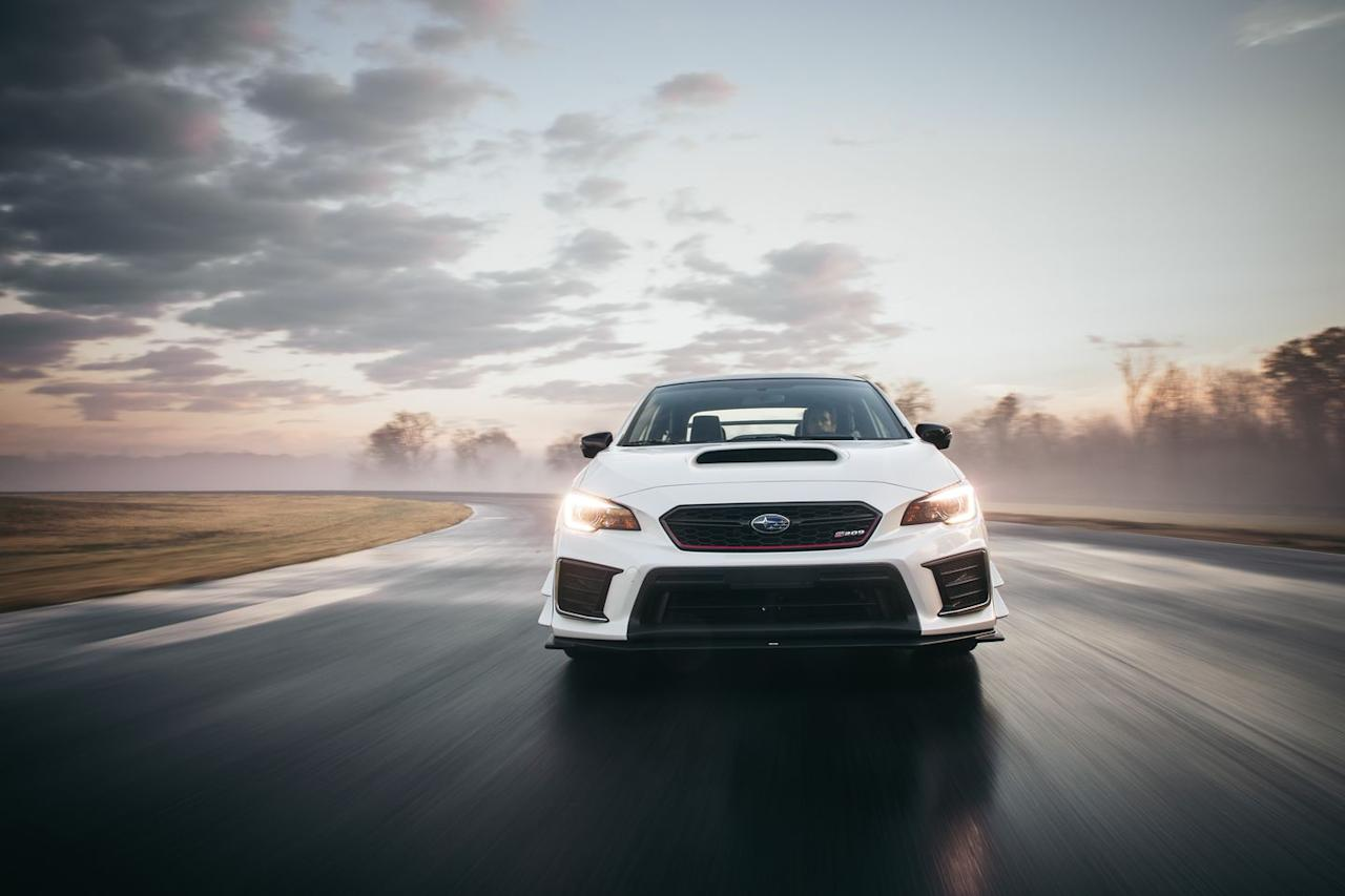 "<p>And then Satoru Hasegawa, general manager of the vehicle experiment department at Subaru Tecnica International (STI), said that one of their goals was to beat the Cadillac ATS-V around VIR using-humblebrag alert-<a rel=""nofollow"" href=""https://www.caranddriver.com/features/a15103912/cadillac-ats-v-sedan-at-lightning-lap-2015-feature/"">our Lightning Lap time of 2:59.8</a> as a benchmark.</p>"