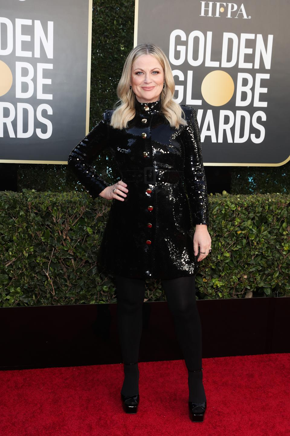 Co-host Amy Poehler attends the 78th Annual Golden Globe Awards held at The Beverly Hilton and broadcast on February 28, 2021 in Beverly Hills, California.