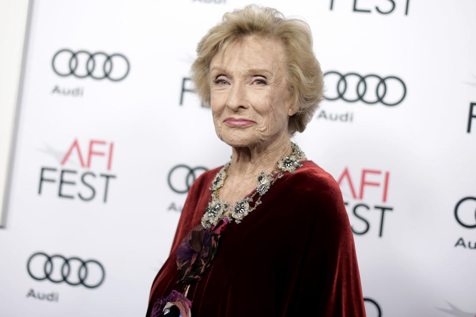 "FILE - Cloris Leachman attends the premiere of ""The Comedian"" during the 2016 AFI Fest on Nov. 11, 2016, in Los Angeles. Leachman stars in the faith-based film ""I Can Only Imagine"" which has made over $22 million in just six days of release on a $7 million budget. Leachman, a character actor whose depth of talent brought her an Oscar for the ""The Last Picture Show"" and Emmys for her comedic work in ""The Mary Tyler Moore Show"" and other TV series, has died. She was 94. (Photo by Richard Shotwell/Invision/AP, File)"