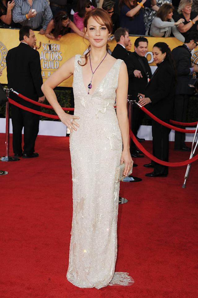 Berenice Bejo arrives at the 18th Annual Screen Actors Guild Awards at The Shrine Auditorium in Los Angeles, California.