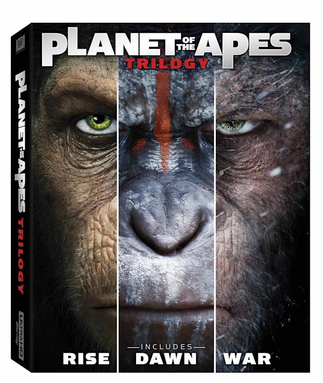 Box art for the new <i>Planet of the Apes</i> trilogy (Photo: 20th Century Fox)