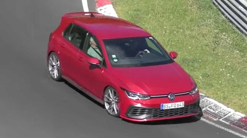 Vw Golf Gti Tcr Spied Going Flat Out At The Nurburgring