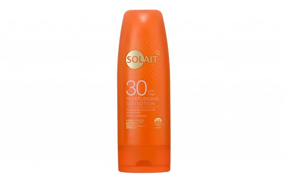"""<p>Superdrug's sun cream is affordable and works. It's lovely and thick, giving your skin plenty of coverage and protection, and is also enriched with Vitamin E to moisturise the skin. Like all sun creams, it should be reapplied regularly, especially when going in water, but it definitely protects skin when the instructions are followed.<br><a rel=""""nofollow noopener"""" href=""""http://www.superdrug.com/Solait/Solait-Sun-Cream-SPF30-200ml/p/721397"""" target=""""_blank"""" data-ylk=""""slk:Superdrug, £4.49"""" class=""""link rapid-noclick-resp""""><i>Superdrug, £4.49</i></a> </p>"""