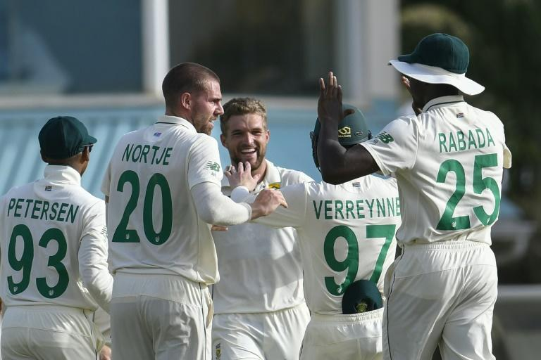 Nortje (2L) has taken six wickets in the match