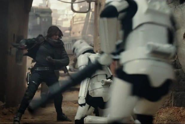 jyn erso fighting star wars rogue one