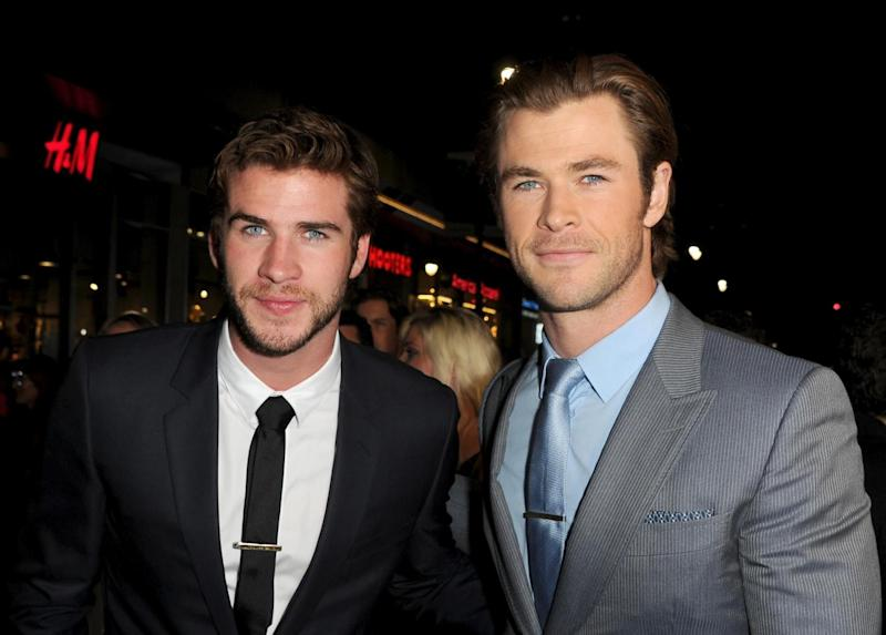 Brothers: Liam and Chris have previously been praised for their genetics (Getty Images)