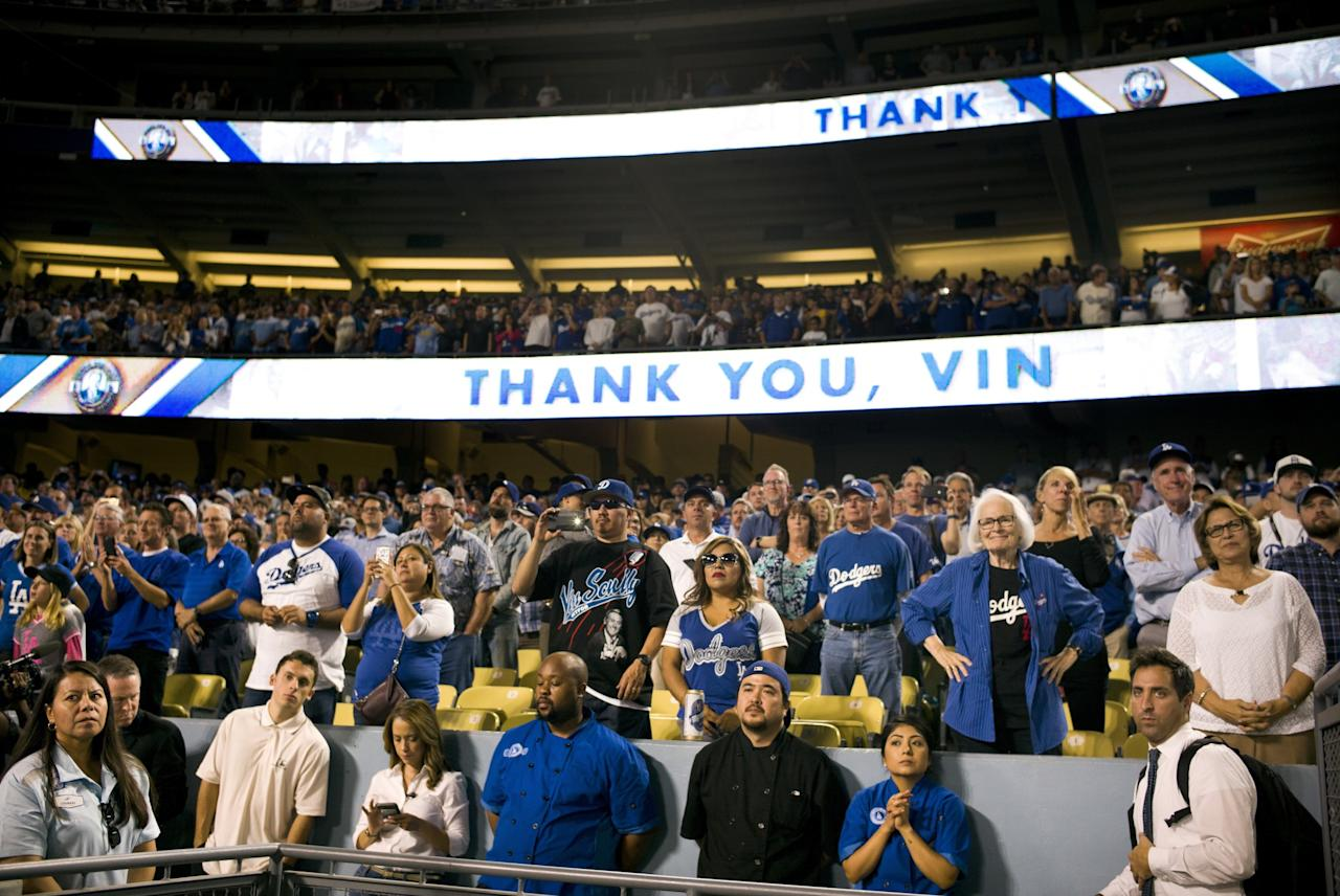 Vin Scully's final games at Dodger Stadium