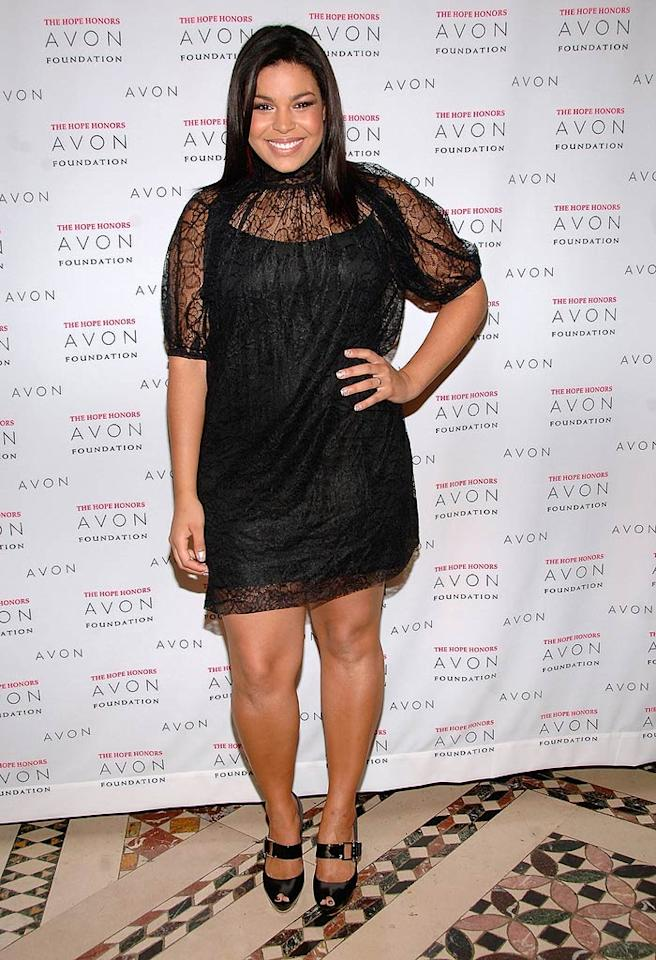 "Former ""American Idol"" winner Jordin Sparks pops a pose in an unflattering ensemble as she arrives at Avon's 8th Annual Hope Honors, a benefit that recognizes outstanding leaders who provide support in the fight against breast cancer and domestic violence. Jamie McCarthy/<a href=""http://www.wireimage.com"" target=""new"">WireImage.com</a> - October 28, 2008"