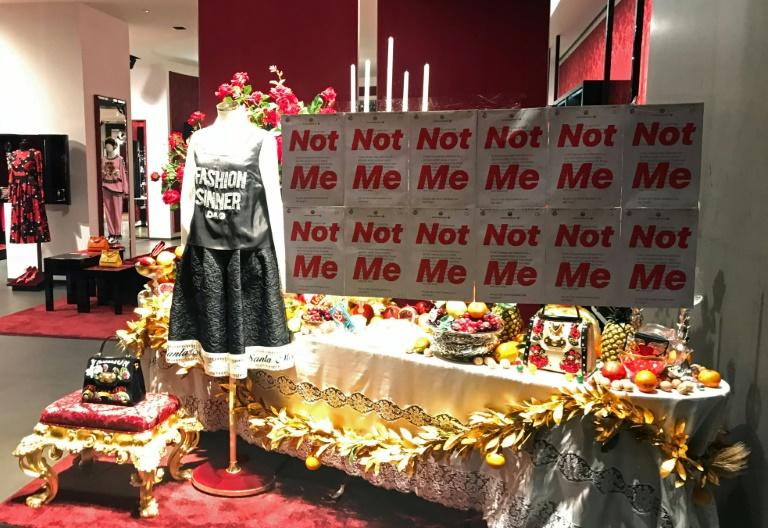 Protestor Edward Gu targeted the Dolce & Gabbana store in Shanghai following the race row