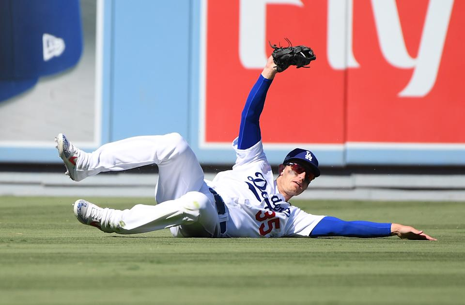 Once a top prospect at first base, Cody Bellinger has seamlessly added center field to his defensive repertoire.