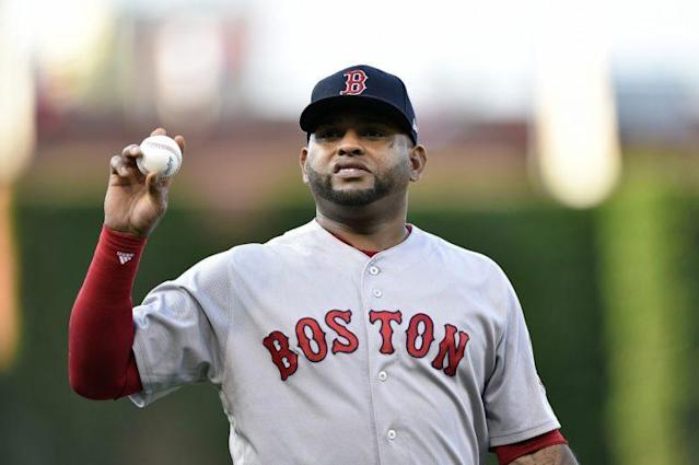 "<a class=""link rapid-noclick-resp"" href=""/mlb/players/8326/"" data-ylk=""slk:Pablo Sandoval"">Pablo Sandoval</a>'s time with the Red Sox has come to an end. (AP Photo)"