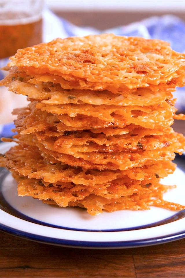 "<p>Make your own cool ranch Doritos.</p><p>Get the recipe from <a rel=""nofollow"" href=""https://www.delish.com/cooking/recipe-ideas/recipes/a57893/cool-ranch-crisps-recipe/"">Delish</a>.</p><p><strong><em>BUY NOW: Baking Sheets, $30, <a rel=""nofollow"" href=""https://www.amazon.com/Calphalon-Nonstick-Bakeware-Baking-2-Piece/dp/B008BUKO6G/?tag=delish_auto-append-20&ascsubtag=[artid