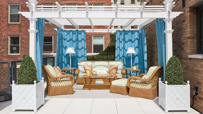 As if the stunning interiors weren't enough, the 2020 Real Simple Home also boasts this incredible rooftop terrace.