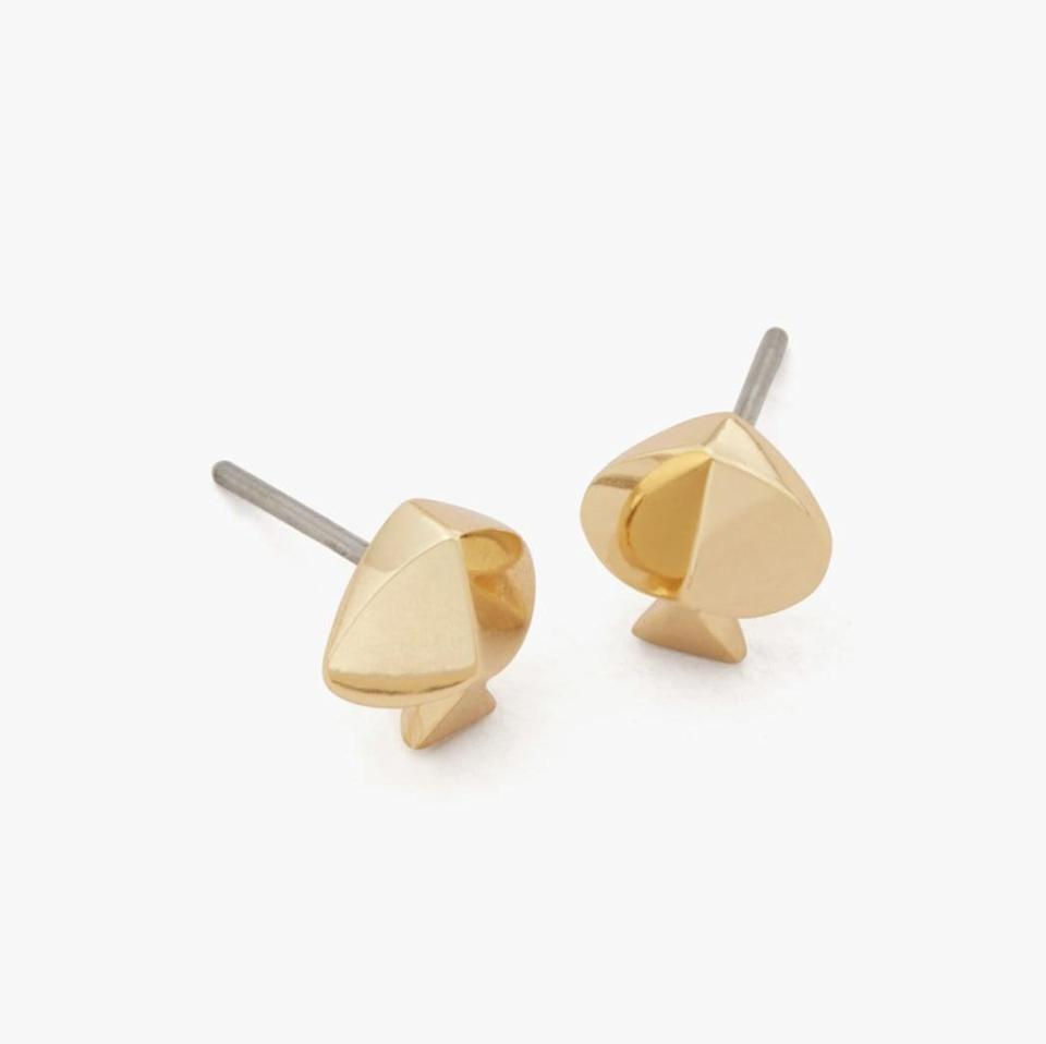 <p>These <span>Kate Spade Legacy Logo Spade Studs</span> ($38) would make a great stocking stuffer.</p>