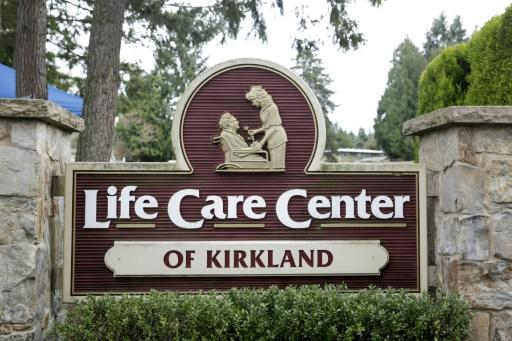 The Life Care Center nursing home where some residents have died from COVID-19 is pictured in Kirkland, Washington on March 5, 2020