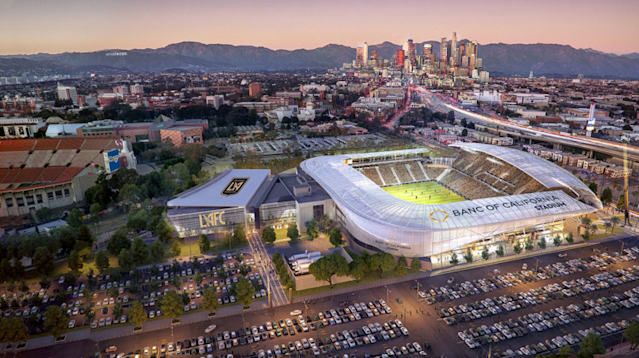 A rendering of Los Angeles Football Club's Banc of California Stadium. (LAFC)
