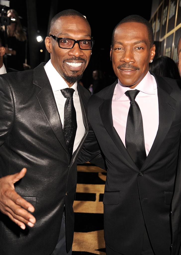 "Charlie with his brother Eddie Murphy at Spike TV's ""Eddie Murphy: One Night Only"" in 2012. (Photo: Jeff Kravitz/FilmMagic)"