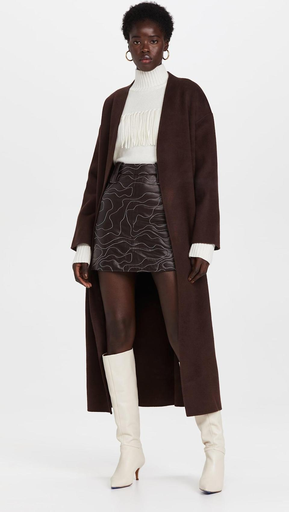 <p>Bring the drama in this <span>Anine Bing Hunter Coat</span> ($699). We like it paired with a mini skirt and tall boots.</p>