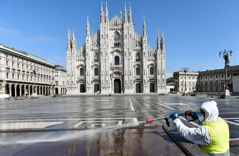 FILE PHOTO: Coronavirus disease (COVID-19) outbreak in Milan