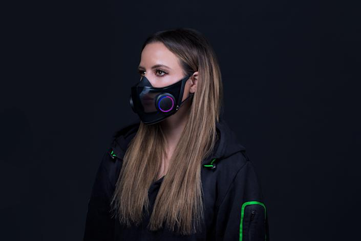 Razer's Project Hazel, which the company boasts is the world's smartest and most socially friendly face mask, has a voice amplifier so your voice isn't muffled.