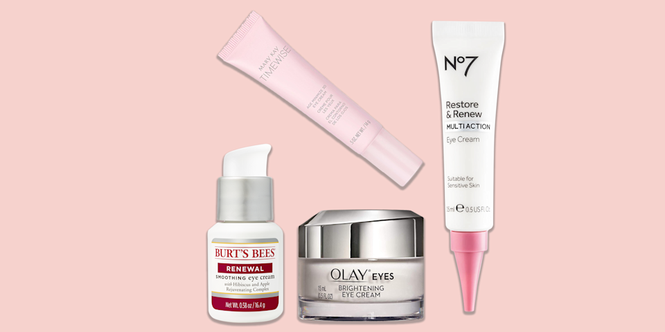 """<p>When it comes to eyes, <a href=""""https://www.goodhousekeeping.com/beauty/anti-aging/a33483394/how-to-get-rid-of-forehead-wrinkles/"""" rel=""""nofollow noopener"""" target=""""_blank"""" data-ylk=""""slk:fine line and"""" class=""""link rapid-noclick-resp"""">fine line and </a><a href=""""https://www.goodhousekeeping.com/beauty/anti-aging/a33483394/how-to-get-rid-of-forehead-wrinkles/"""" rel=""""nofollow noopener"""" target=""""_blank"""" data-ylk=""""slk:wrinkles"""" class=""""link rapid-noclick-resp"""">wrinkles</a> are the biggest concern for 85% of women, according to a <a href=""""https://www.goodhousekeeping.com/beauty-products/videos/a36899/inside-the-good-housekeeping-beauty-lab/"""" rel=""""nofollow noopener"""" target=""""_blank"""" data-ylk=""""slk:Good Housekeeping Institute Beauty Lab"""" class=""""link rapid-noclick-resp"""">Good Housekeeping Institute Beauty Lab</a> survey of over 1,000 readers. And those two worries are followed closely by lack of firmness, <a href=""""https://www.goodhousekeeping.com/beauty/anti-aging/advice/a47990/how-to-get-rid-of-dark-circles-under-eyes/"""" rel=""""nofollow noopener"""" target=""""_blank"""" data-ylk=""""slk:dark circles"""" class=""""link rapid-noclick-resp"""">dark circles</a> and under-eye bags. Enter the best eye treatment products like serums and creams, tailored to address these stubborn issues.</p><p>""""Eye creams differ from <a href=""""https://www.goodhousekeeping.com/beauty-products/reviews/g5014/best-face-moisturizer/"""" rel=""""nofollow noopener"""" target=""""_blank"""" data-ylk=""""slk:face creams"""" class=""""link rapid-noclick-resp"""">face creams</a> because they're formulated specifically for the delicate eye area. It's important to use one to <a href=""""https://www.goodhousekeeping.com/beauty/anti-aging/a35565149/skin-hydration-guide/"""" rel=""""nofollow noopener"""" target=""""_blank"""" data-ylk=""""slk:keep skin hydrated"""" class=""""link rapid-noclick-resp"""">keep skin hydrated</a> and plump,"""" explains GH Beauty Lab chemist <a href=""""https://www.goodhousekeeping.com/author/12466/danusia-wnek/"""" rel=""""nofollow noopener"""" target=""""_blank"""" data-ylk=""""slk:Danusia Wn"""
