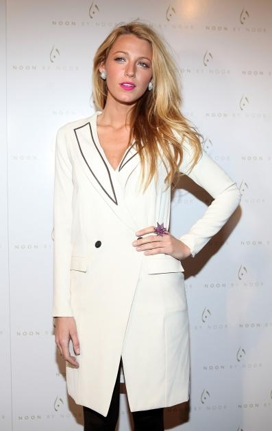 Blake Lively steps out at the Noon By Noor Fall 2012 presentation during Mercedes-Benz Fashion Week at Provocateur in New York City on February 15, 2012  -- Getty Images