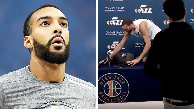 Rudy Gobert is still struggling with his sense of smell three months after he tested positive for the coronavirus. (Images: Getty Images/NBA)