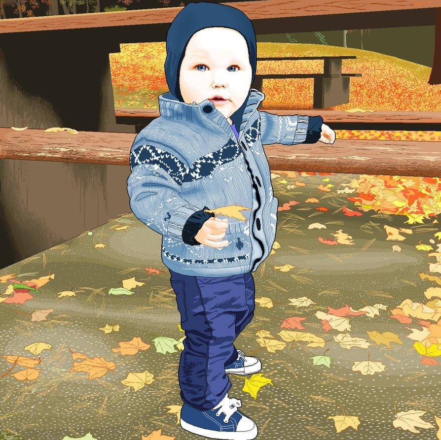 <p>Pat used Paint for this portrait of a friend's baby </p>