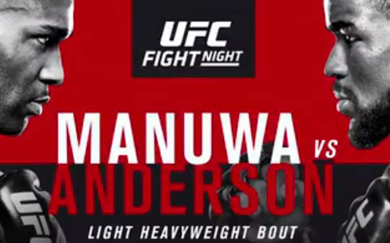 Manuwa vs Anderson is the headline fight in London - UFC