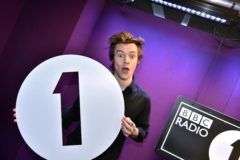 Set for the top spot? Harry Styles is neck and neck with Ed Sheeran for number one: BBC Radio One