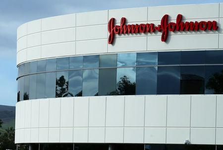 FILE PHOTO: A Johnson & Johnson building is shown in Irvine, California