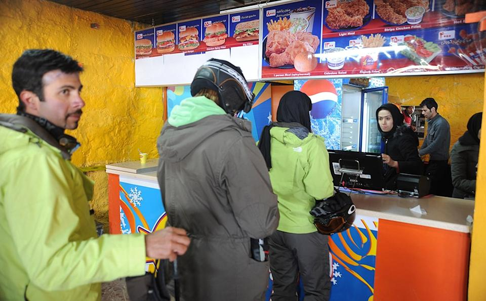 iran skiing lunch - kaveh kazemi/getty images