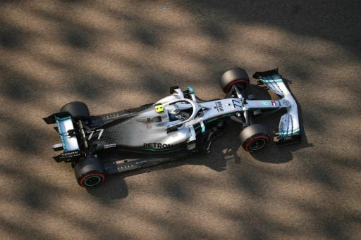 Mercedes' Finnish driver Valtteri Bottas in the  first practice session for the Abu Dhabi grand prix