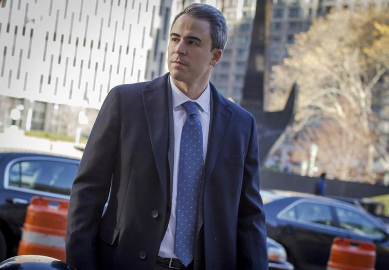 Michael Steinberg arrives at the Manhattan Federal Courthouse in New York