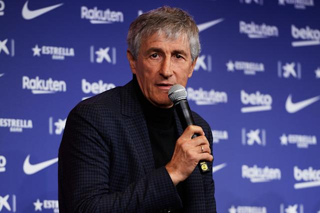 "He was ""walking around by the cows"" in his hometown on Monday, but on Tuesday Quique Setien was presented as the new Barcelona coach."