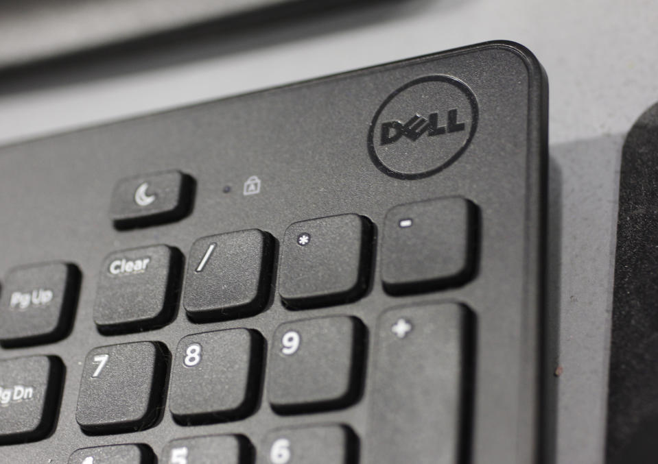 <p> FILE - In this Monday, Aug. 20, 2012, file photo, a Dell keyboard is shown at a Best Buy store in Mountain View, Calif. Dell's stock soared nearly 13 percent Monday, Jan. 14, 2013, on a report that the struggling personal computer maker is in talks to take the company private. (AP Photo/Paul Sakuma, File) </p>
