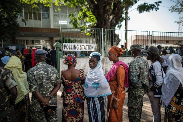 Counting has begun after Gambia elections with little indication of the eventual winner of the contest marked by an ongoing internet blackout in the small west African nation (AFP Photo/MARCO LONGARI)