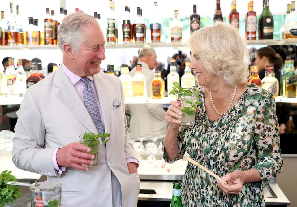 "<p>Cheers to <a href=""https://www.townandcountrymag.com/society/tradition/g26922455/prince-charles-camilla-parker-bowles-cuba-visit-photos/"" rel=""nofollow noopener"" target=""_blank"" data-ylk=""slk:the royal couple's historic 2019 trip to Cuba!"" class=""link rapid-noclick-resp"">the royal couple's historic 2019 trip to Cuba!</a> They were the first members of the British royal family to ever make an official visit to the country.</p>"
