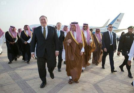 Pompeo meets Saudi officials on tour through Middle East