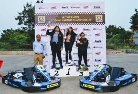 Mumbai's Ashi Hanspal stars in National Karting Championship