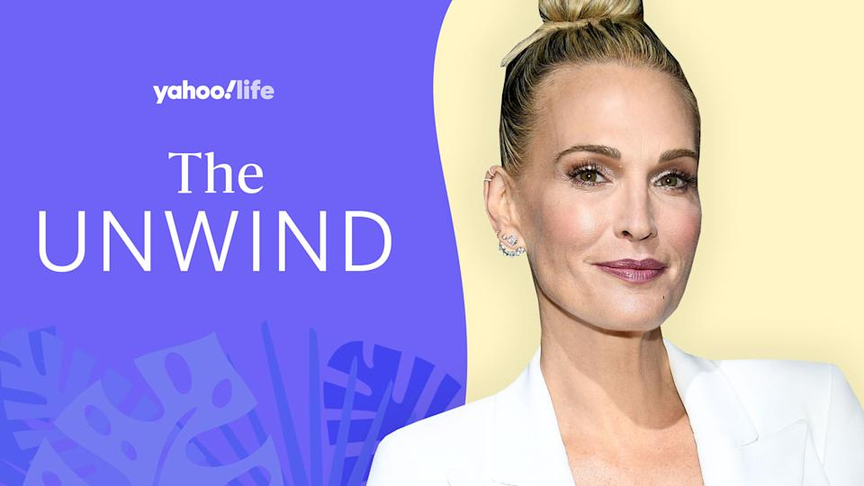 Molly Sims on her new podcast and finding time for self-care. (Photo: Getty; designed by Quinn Lemmers)