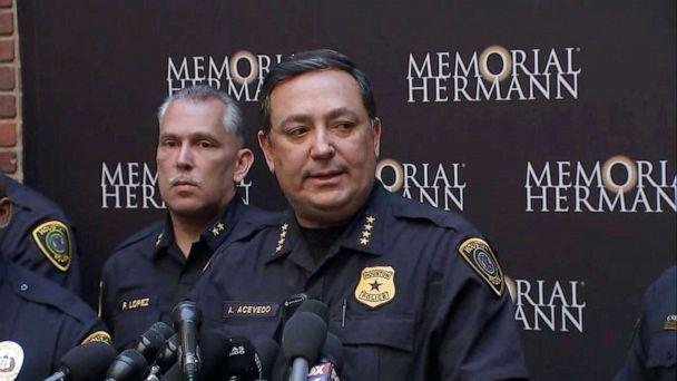 PHOTO: Houston police Chief Art Acevedo speaks about the shooting of five police officers during a press conference at a hospital in Houston, Jan. 19, 2019. (KTRK, FILE)